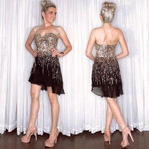 Sherri Hill Black Homecoming Appearance Dress